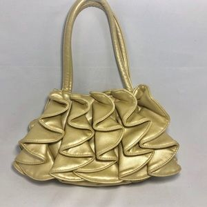 Sondra Roberts Ruffed Leather Purse